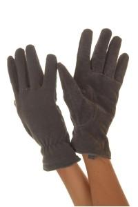 Γκρί γυναικεία δερμάτινα γάντια