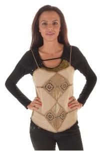 Παράδοξο γυναικείο μπουστάκι από φυσικό δέρμα