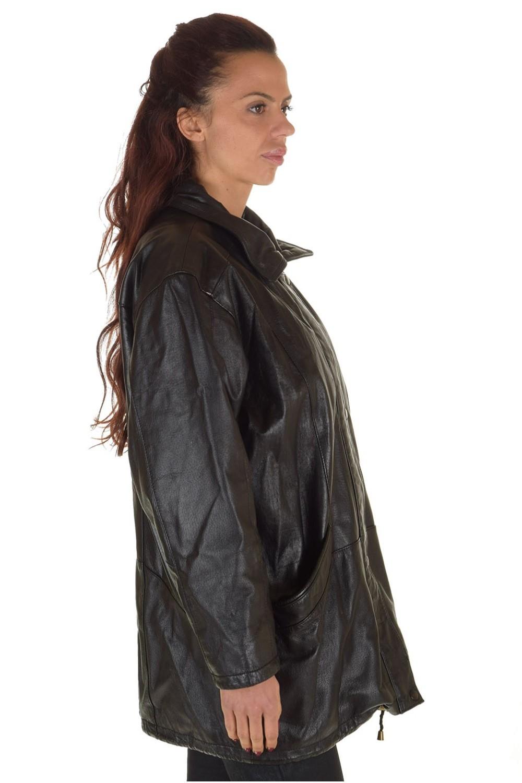bbf9a0a20155 ... Γυναικείο μακρύ δερμάτινο μπουφάν 44.00 EUR