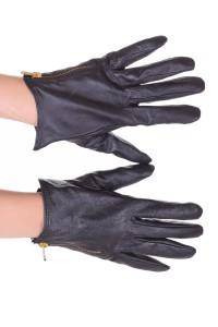 Μαύρα γυναικεία δερμάτινα γάντια