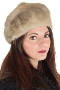 Σύγχρονο γυναικείο καπέλο από φυσική γούνα