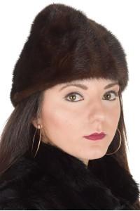 Μοντέρνο γυναικείο καπέλο από βιζόν