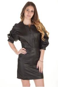 Φόρεμα από φυσικό δέρμα