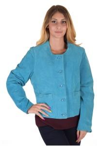 Μπλε γυναικείο καστόρινο μπουφάν