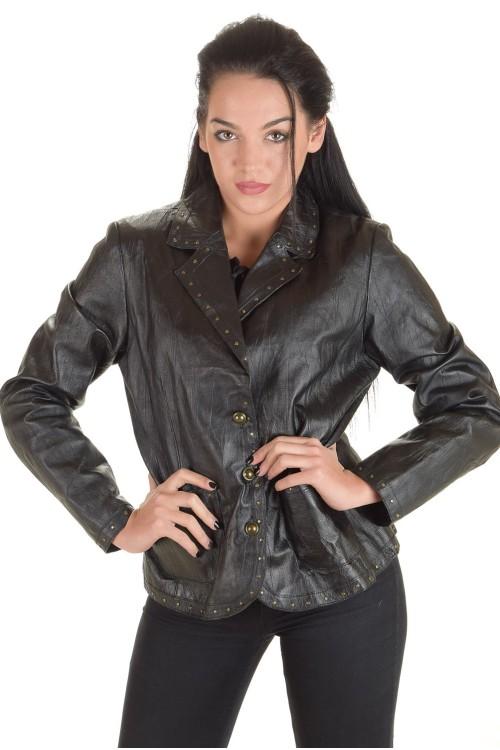 Σύγχρονο γυναικείο δερμάτινο μπουφάν 42.00 EUR