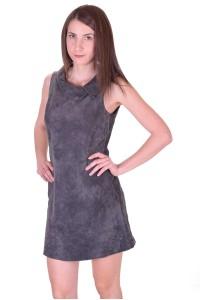 Γυναικείο καστόρινο φόρεμα από φυσικό δέρμα