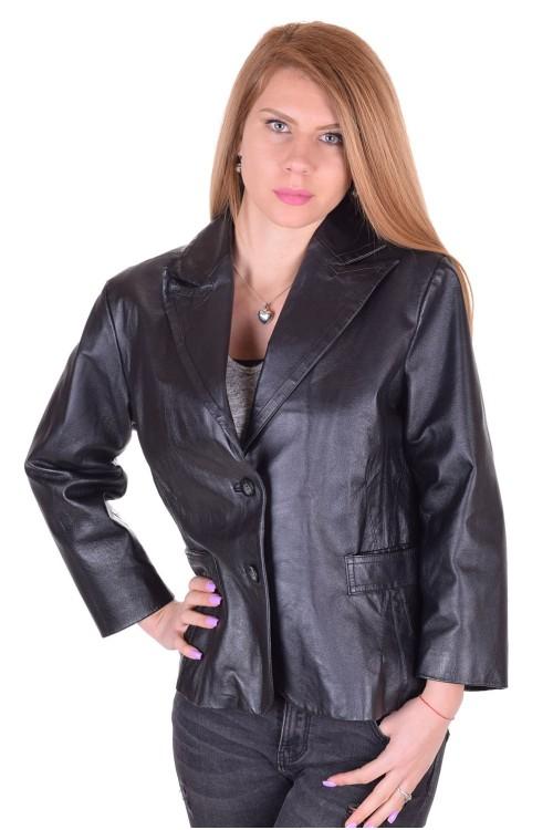 Κλασάτο γυναικείο δερμάτινο σακάκι 36.00 EUR