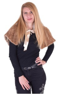 Θαυμάσιο γυναικείο παλτό από βιζόν