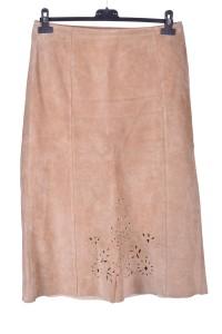 Κομψή γυναικεία καστόρινη φούστα από φυσικό δέρμα