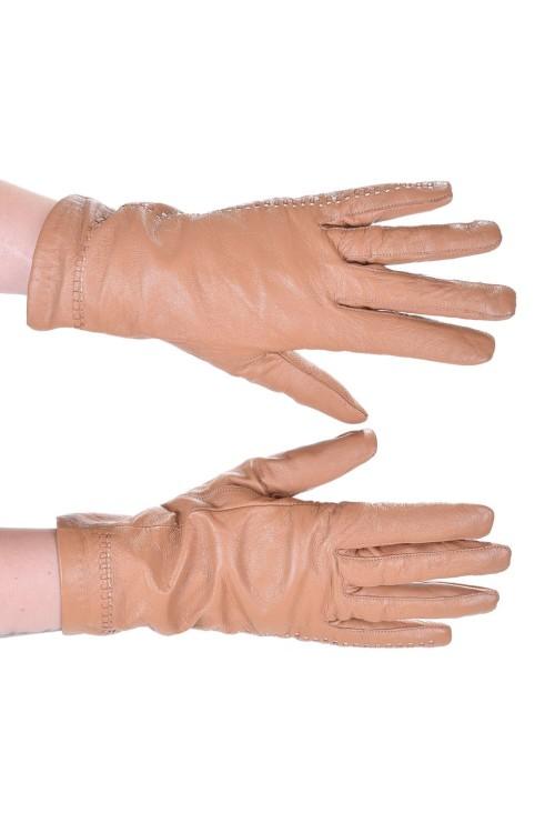 Μπέζ δερμάτινα γάντια 8.00 EUR