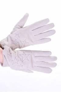 Λευκά καστόρινα γάντια από φυσικό δέρμα