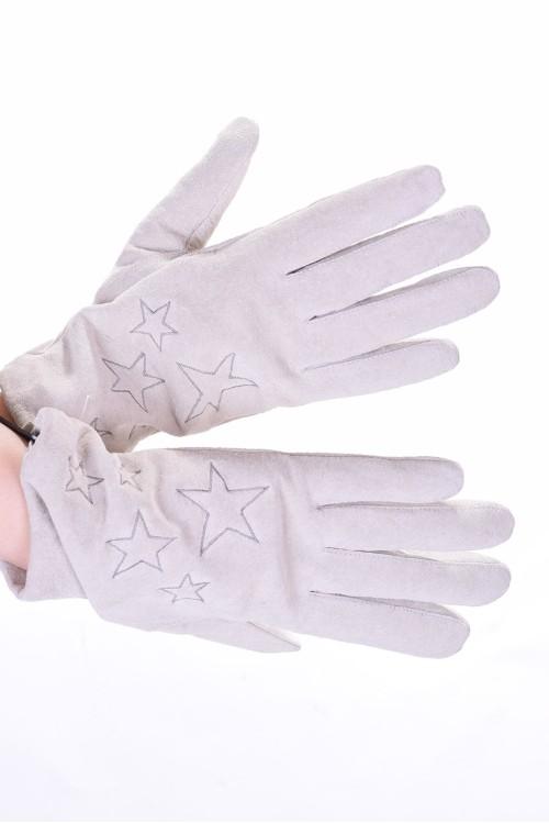 Λευκά καστόρινα γάντια από φυσικό δέρμα 10.00 EUR