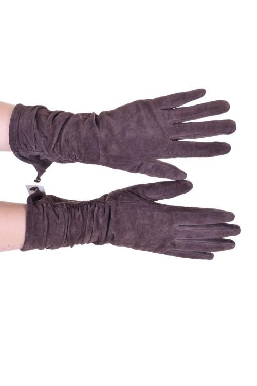 Ομορφα γυναικεία καστόρινα γάντια από φυσικό δέρμα 8.00 EUR