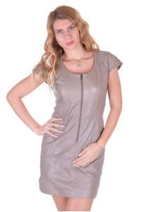 Γυναικείο δερμάτινο φόρεμα