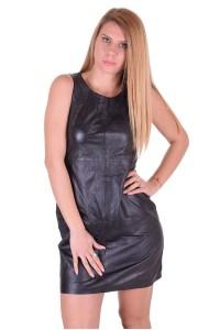 c54f7ede2860 Εξαίσιο γυναικείο δερμάτινο φόρεμα