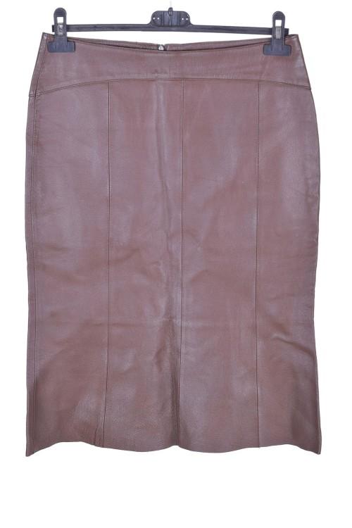 Καφέ γυναικεία δερμάτινη φούστα 16.00 EUR