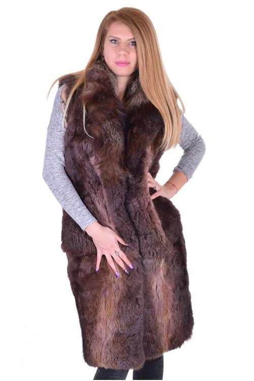 Εξαίσιο γυναικείο γιλέκο από φυσική γούνα 78.00 EUR