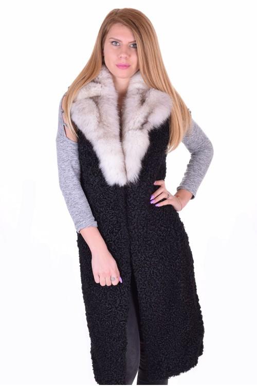 Εξαίσιο γυναικείο γιλέκο από φυσική γούνα 107.00 EUR