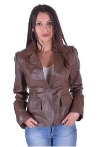 Ωραίο γυναικείο δερμάτινο σακάκι