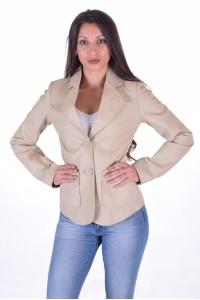 Κλασάτο γυναικείο δερμάτινο σακάκι