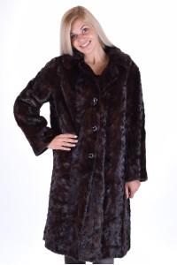 Σκούρο καφέ γυναικείο παλτό