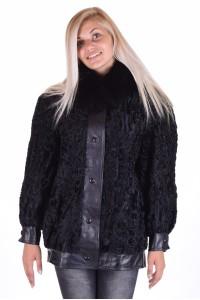 Κομψό παλτό από αστρακάν