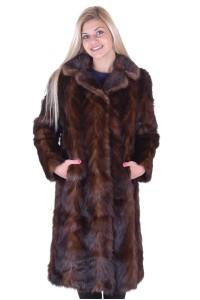 Επιβλητικό γυναικείο παλτό από βιζόν