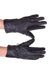 Γυναικεία δερμάτινα γάντια του μοτοσικλετιστή