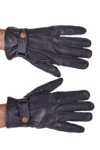 Μαύρα ανδρικά δερμάτινα γάντια