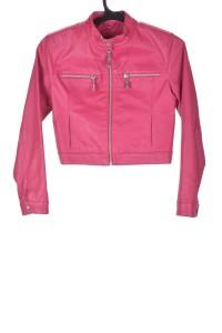 Ομορφο ροζ παιδικό μπουφάν από φυσικό δέρμα
