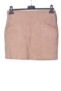 Επώνυμη καστόρινη φούστα από φυσικό δέρμα