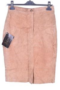 Καστόρινη φούστα από φυσικό δέρμα