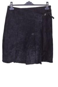 Μαύρη καστόρινη φούστα από φυσικό δέρμα