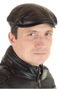 Ανδρικό καπέλο από φυσικό δέρμα