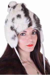 Μοντέρνο γυναικείο καπέλο από φυσική γούνα